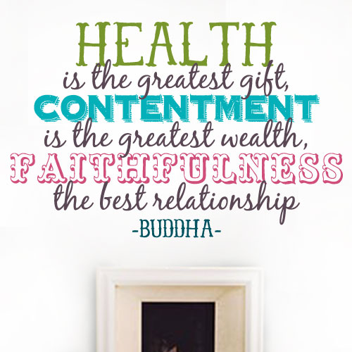 View Product Health Is The Gift Wall Decal