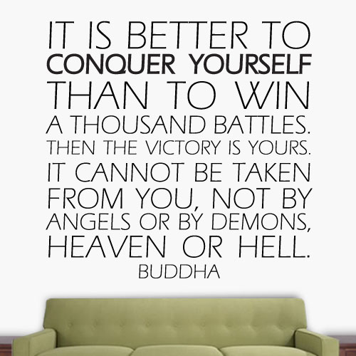 View Product Conquer Yourself Wall Decal
