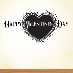 Happy Valentines Day Wall Decal