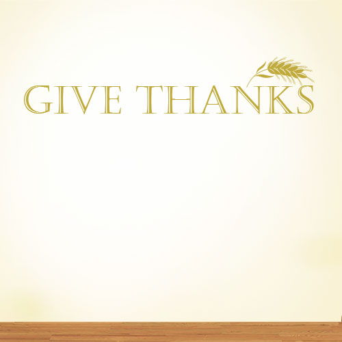 View Product Give Thanks Wall Decal