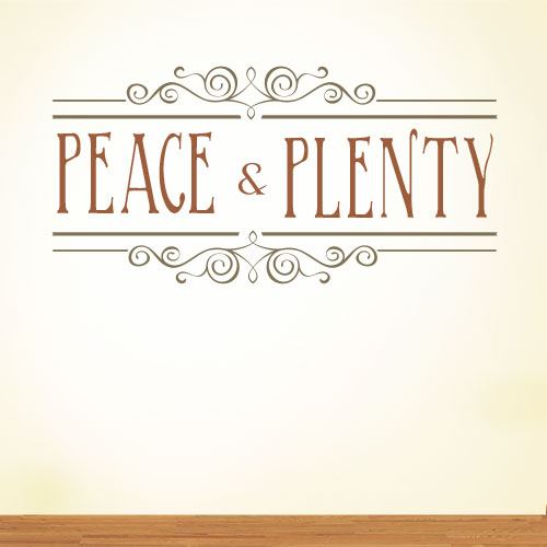 View Product Peace And Plenty Wall Decal