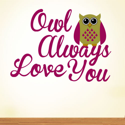 View Product Owl Always Love You Wall Decal