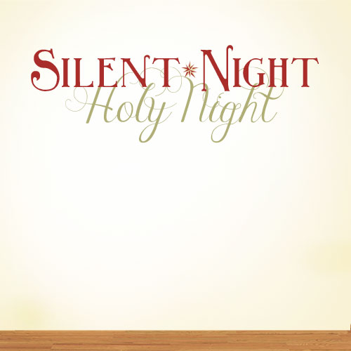 View Product Silent Night Holy Night Wall Decal