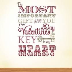 Key To My Heart Wall Decal
