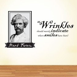 Wrinkles Should Wall Decal