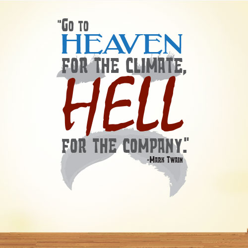 View Product Go To Heaven Wall Decal