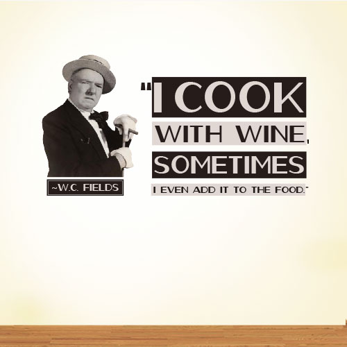 View Product I Cook With Wall Decal