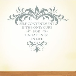 Self Contentment Wall Decal