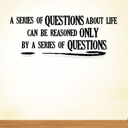 View Product A Series Of Questions Wall Decal