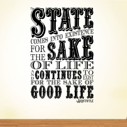 View Product The State Comes Wall Decal