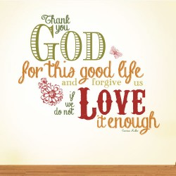 Thank You God Wall Decal
