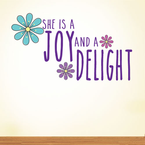 View Product She Is A Joy Wall Decal