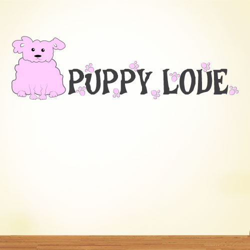 View Product Puppy Love Wall Decal