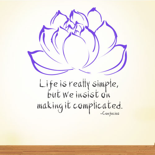 View Product Life Is Really Simple Wall Decal