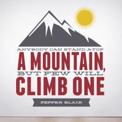 Climb a Mountain Wall Decal